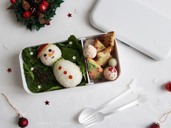 Bento noël bonhomme de neige et ces petites douceurs