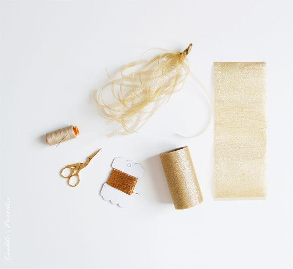 Mariage en rose et or ♥ DIY guirlande tassel en papier de soie et de tulle