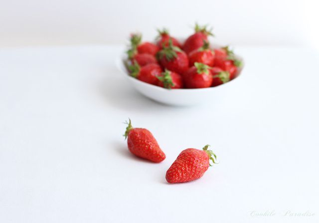 Verrine de fraises à la crème chantilly-mascarpone