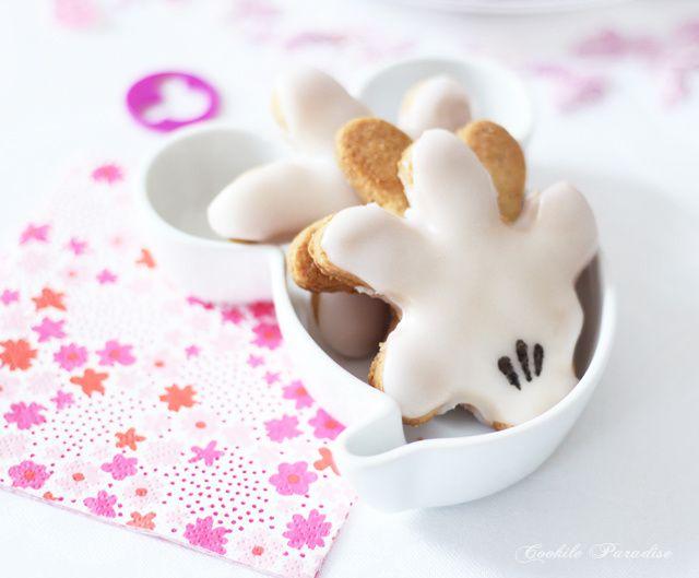Un goûter tout doux avec des petits sablés Mickey & Minnie mouse