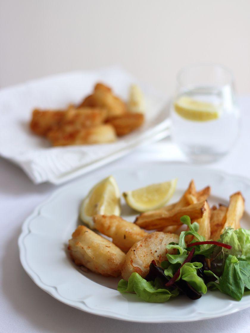 Fish and chips, sauce mayonnaise à l'aneth-câpre &amp&#x3B; sa salade fraîcheur