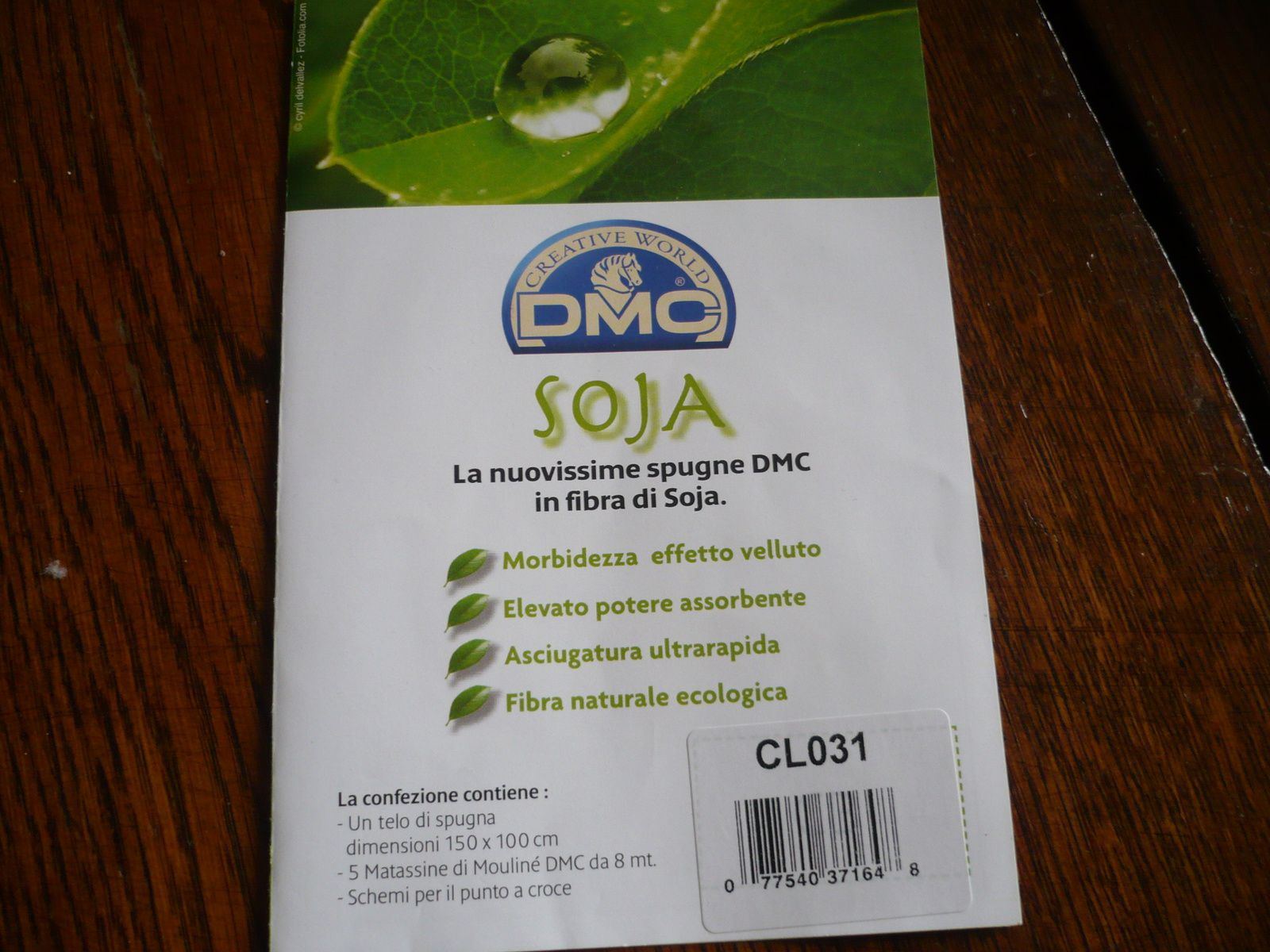 un motif brodé et les explications DMC
