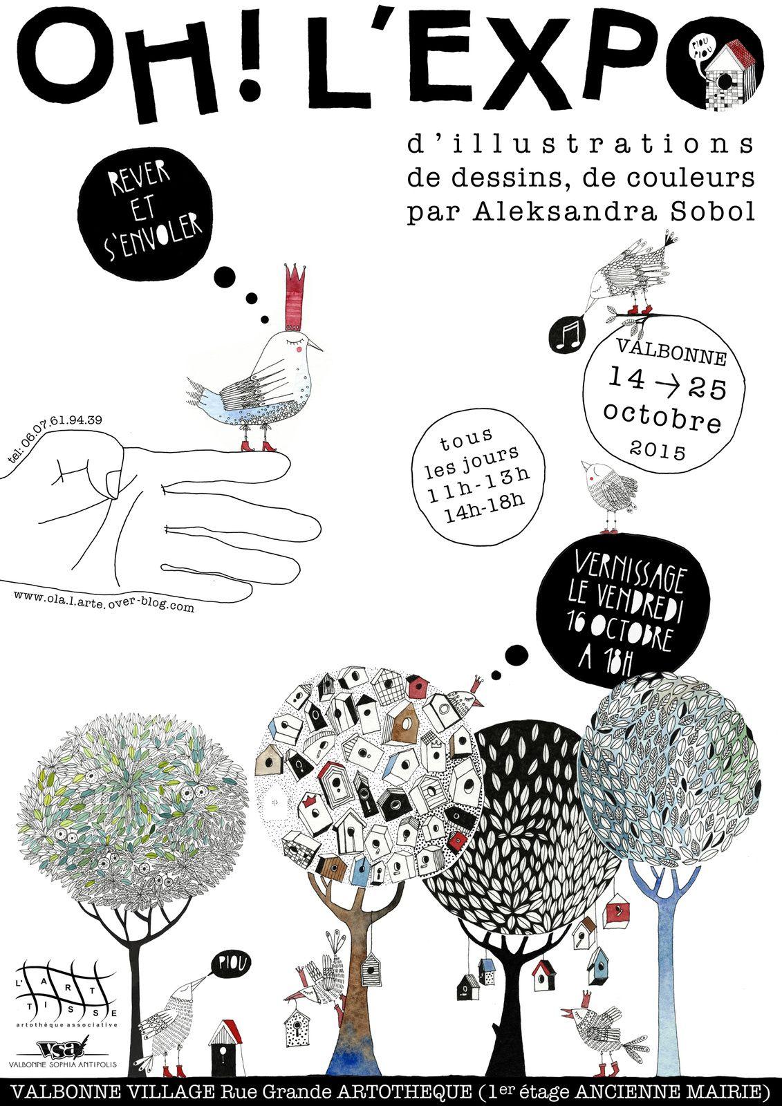 Oh, l'expo! Valbonne du 14 au 25 octobre 2015
