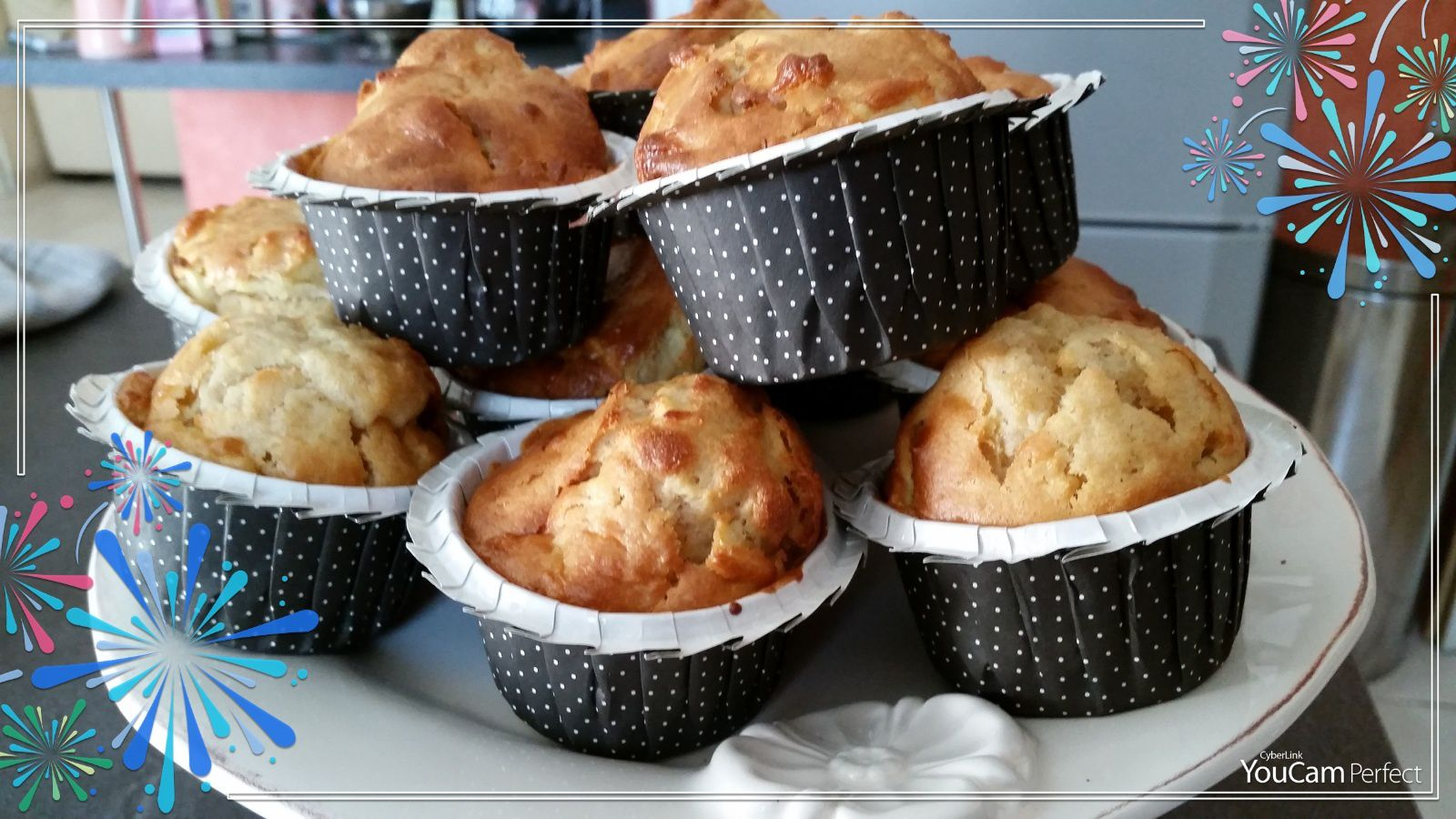 MUFFINS RAFFINES POMMES CANNELLE