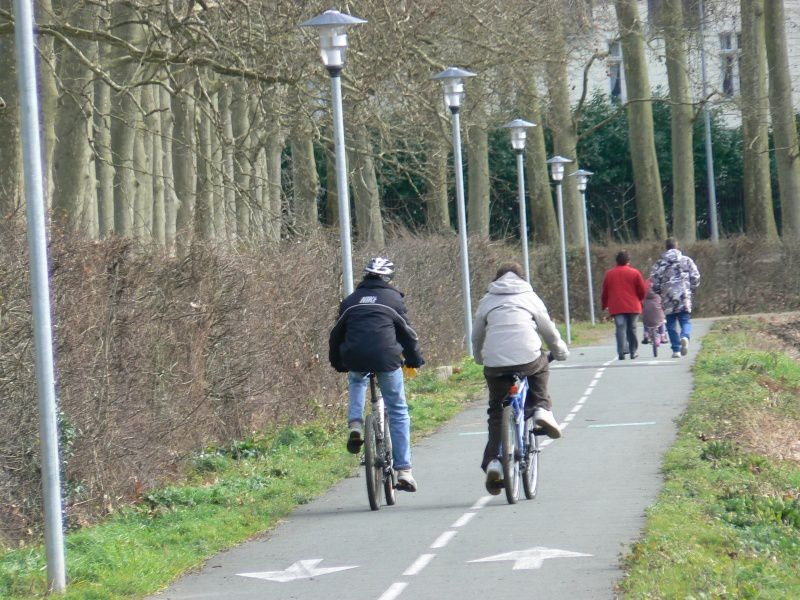 Courir sur piste cyclable