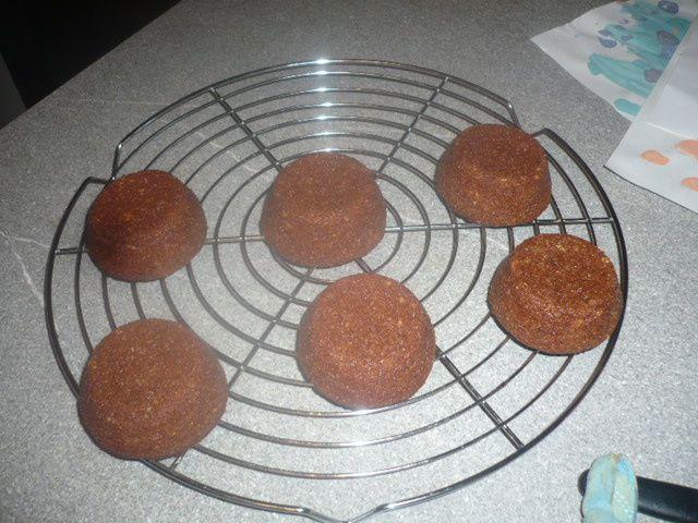 Muffins au chocolat et amandes avec 4 blancs d'oeufs :