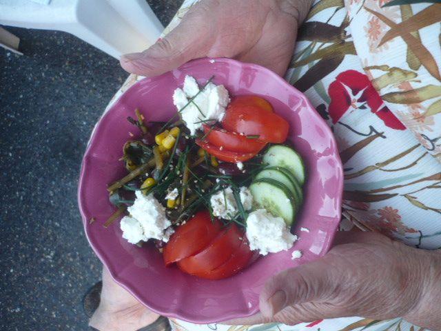De plus en plus souvent des veggies plates en repas :