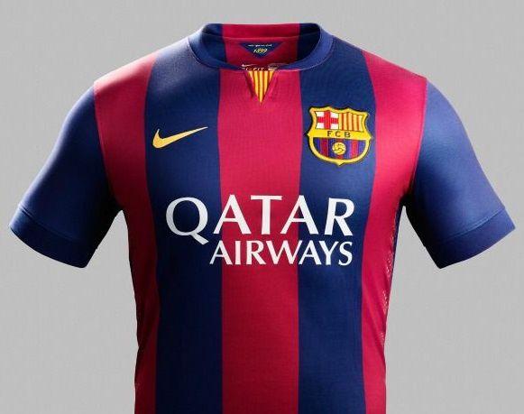 Le maillot domicile du Barça, saison 2014-2015.