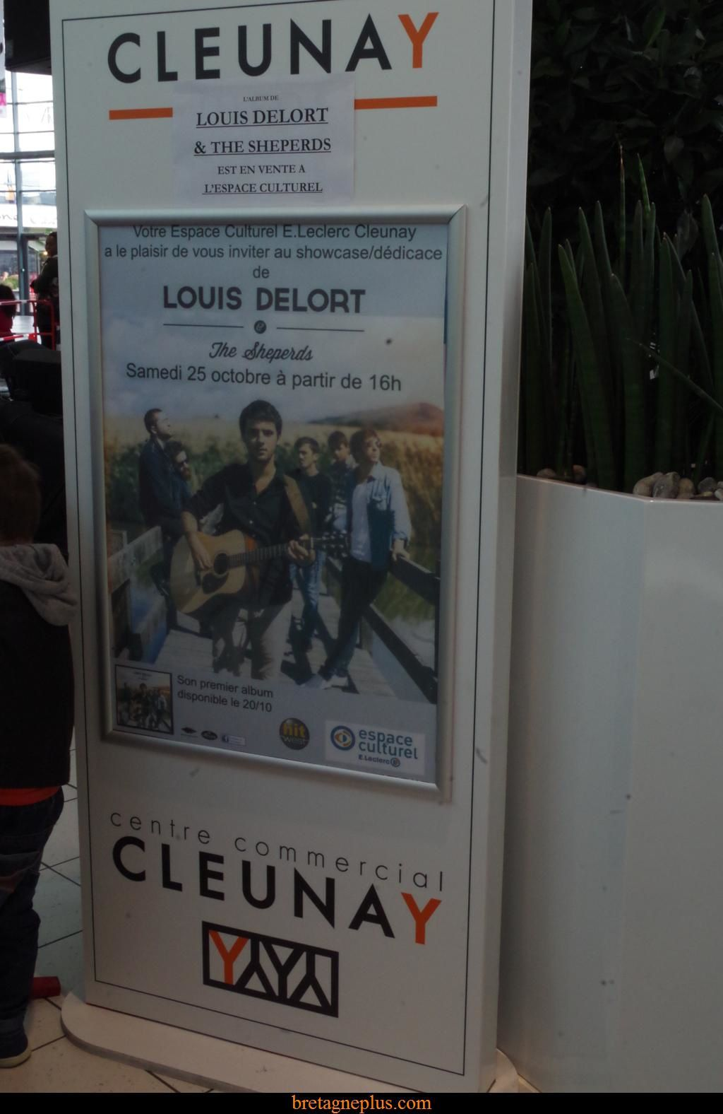 Louis Delort en showcase au Leclerc Cleunay