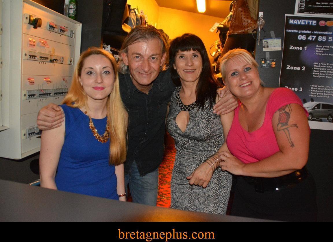 Gilles Verdez, Clio Pajczer et Mokhtar au Bubble Club de Vannes