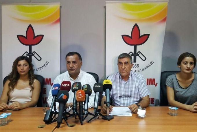 La conférence de presse de la Ligue des droits humains (IHD) de Diyarbakir