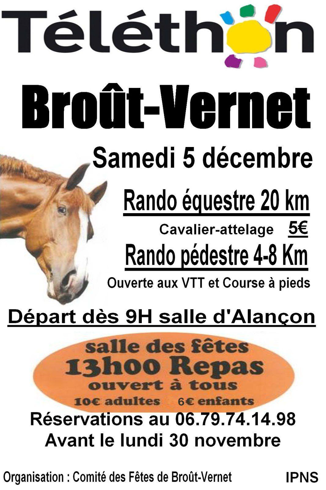 20ème édition du téléthon de Broût-Vernet