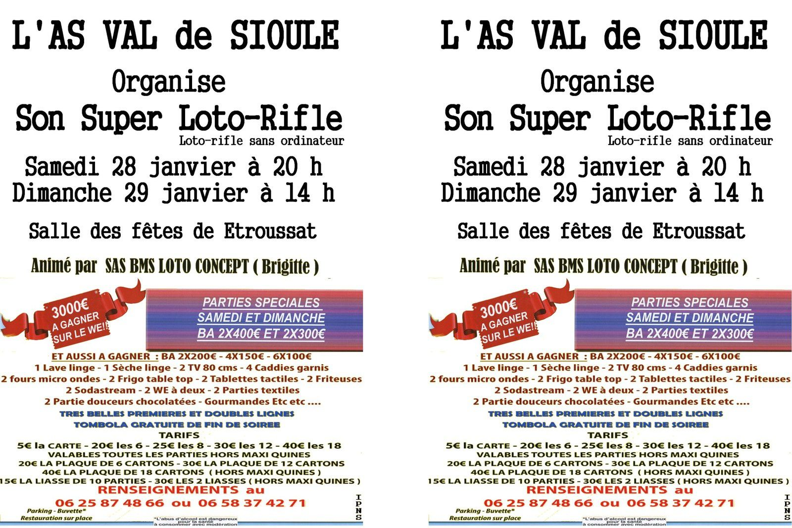 Loto de l'AS Val de Sioule