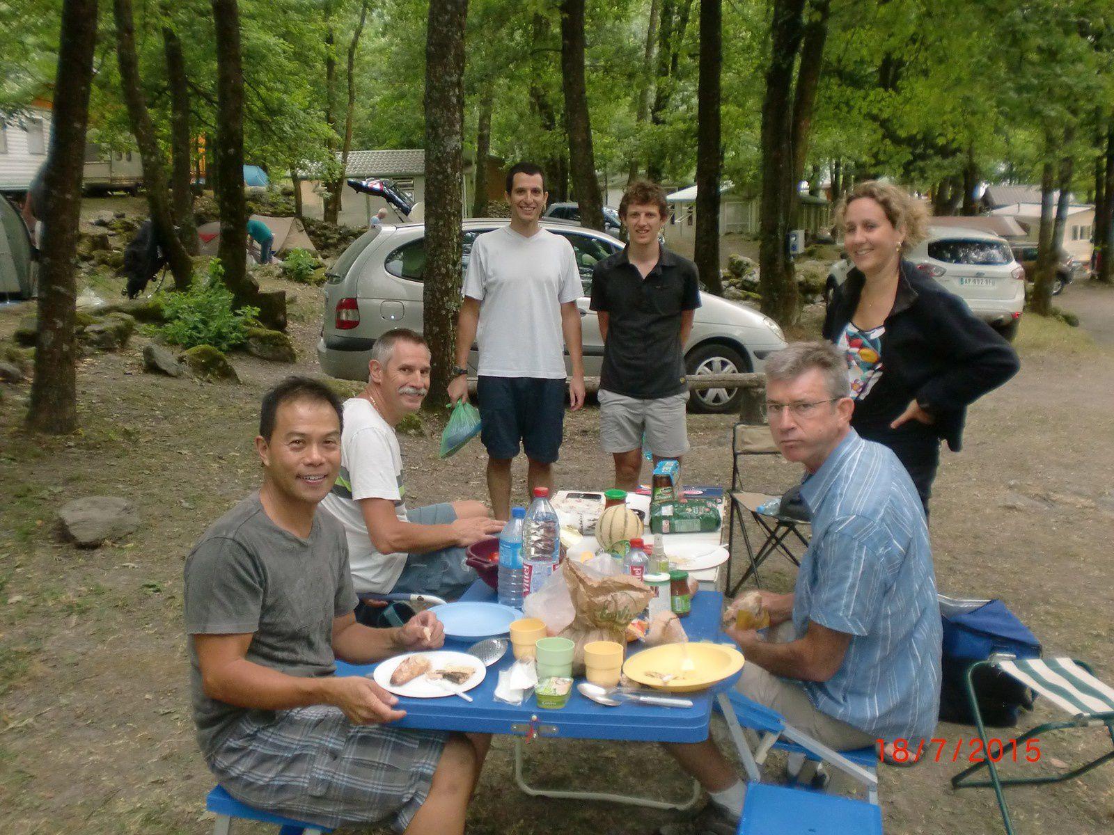 Avec Stephen, Mathieu, Stéphane, Stéphanie et Brian (photo de Jean-Christophe)
