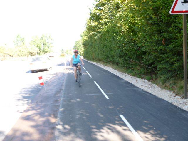 Nouvelle piste cyclable de Menthon à Talloires