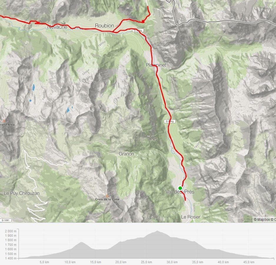 Le parcours vers le col de l'Echelle