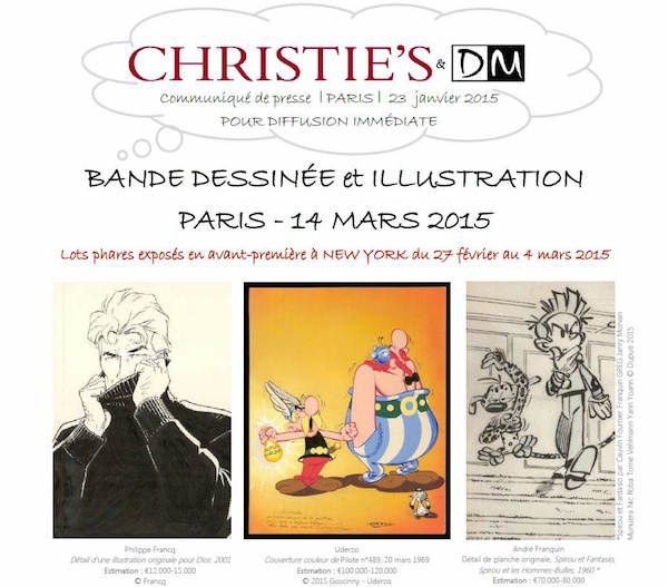 Christie's ou la BD Franco-Belge entre New York et Paris...