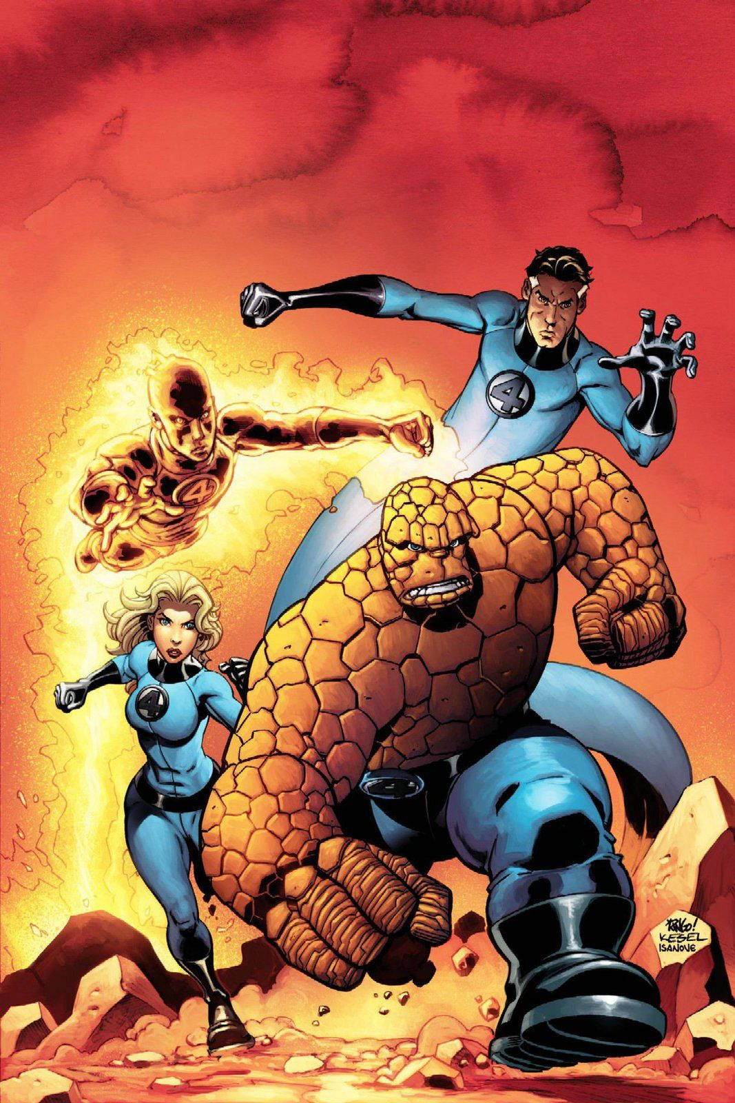 Les légendes de la Bande Dessinée par Oncle Fumetti… The Fantastic Four et Mike Wieringo