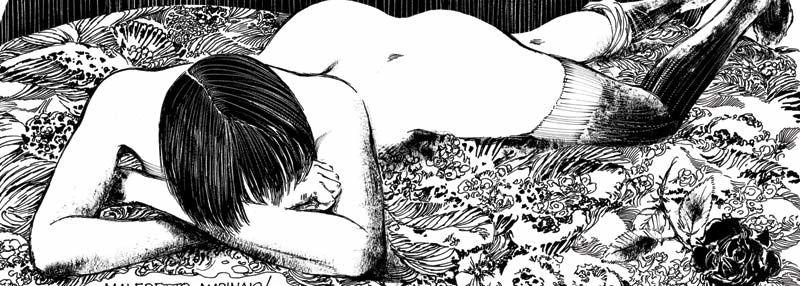 La page érotique d'Oncle Fumetti... Valentina et Guido Crepax.