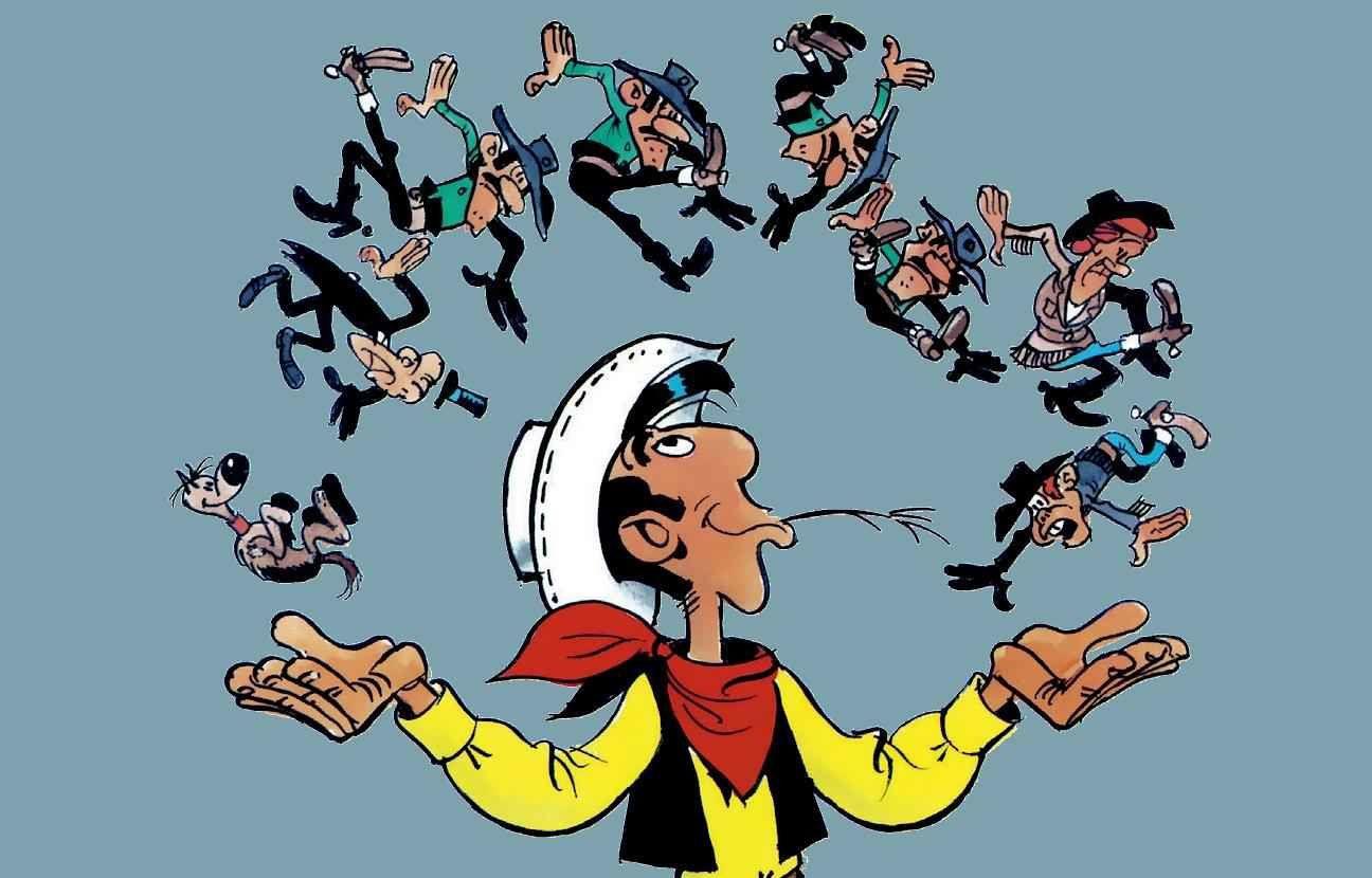 Lucky Luke La terre promise de Achdé et Jul d'après Morris chez Dargaud.
