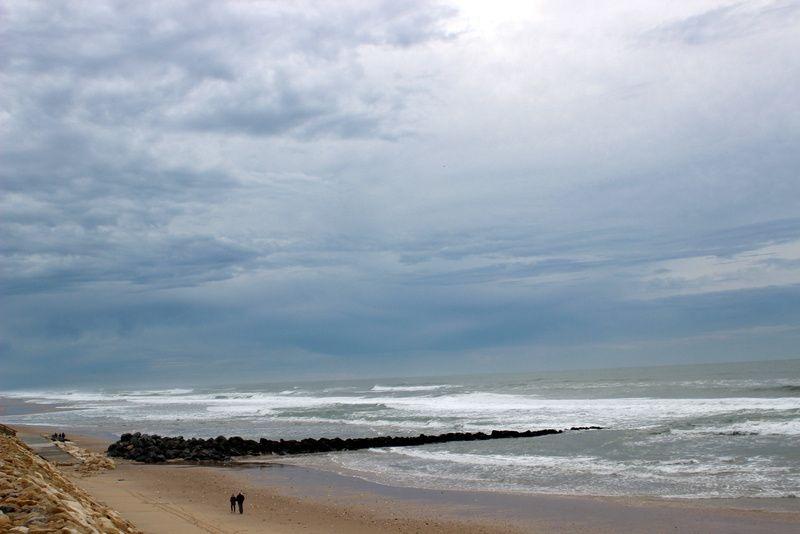 La plage de l' automne