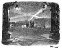 La Place Stanislas sous les bombardements. Wikipedia.