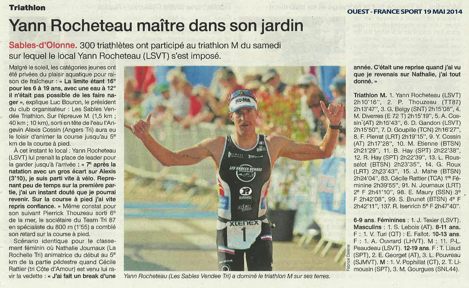 OUEST-FRANCE TRIATHLON DES SABLES 2014