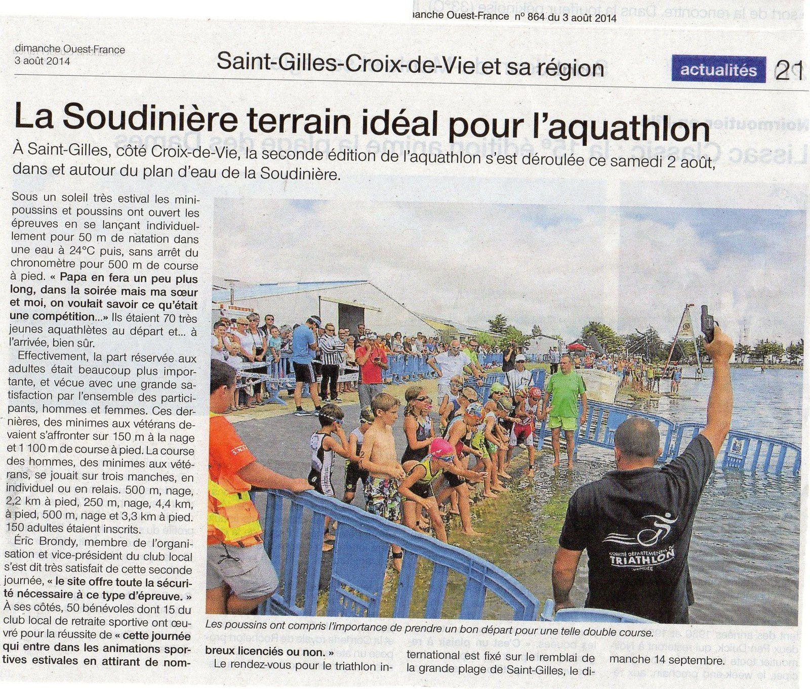 OUEST FRANCE LOCAL 3 AOUT 2014