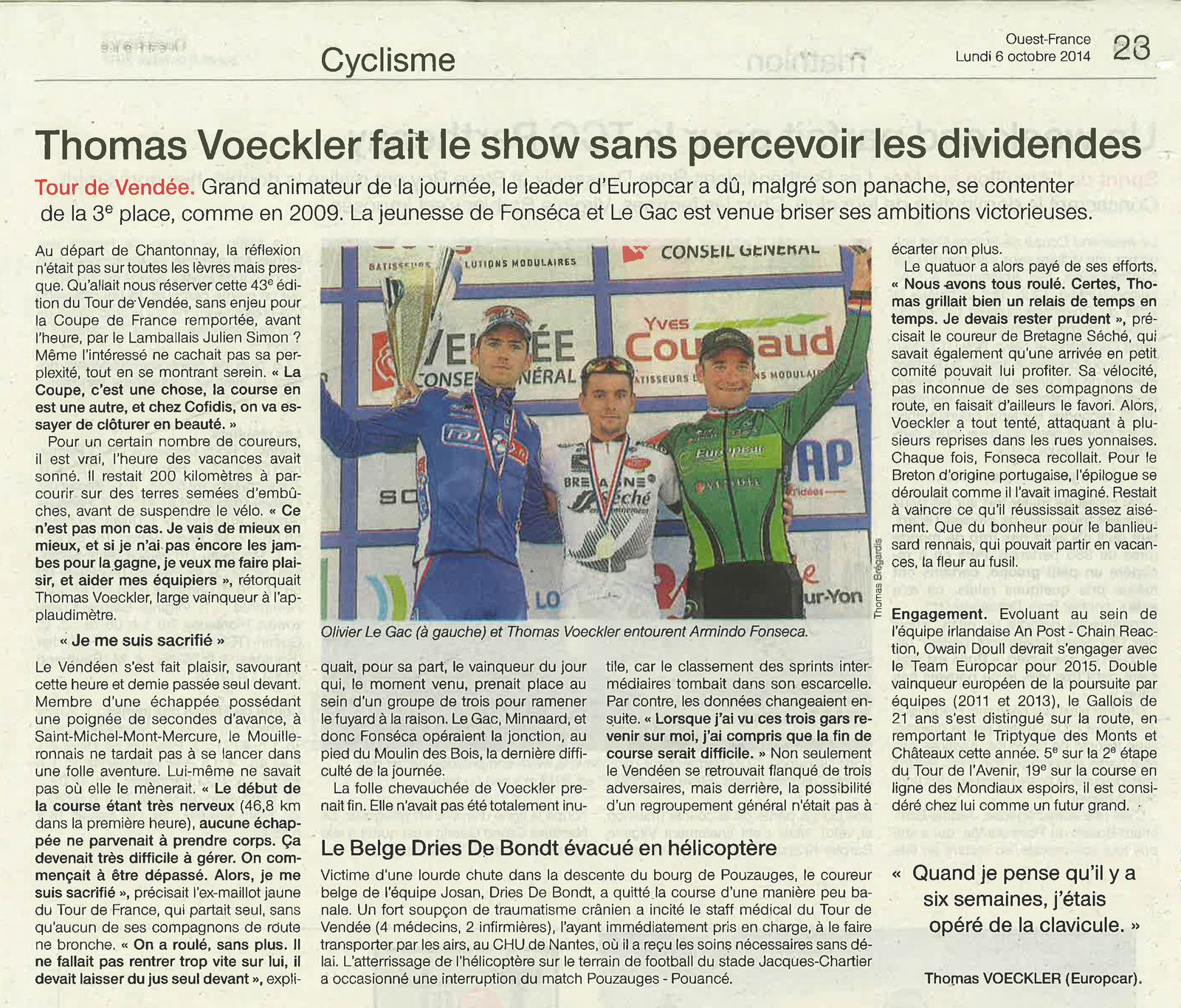 Ouest France 06-10-2014