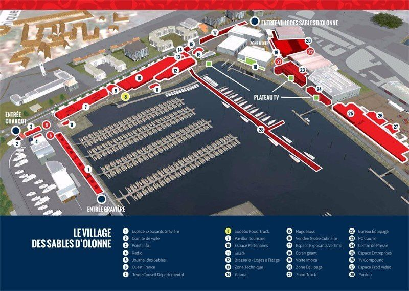 PLAN DU VILLAGE VENDEE GLOBE