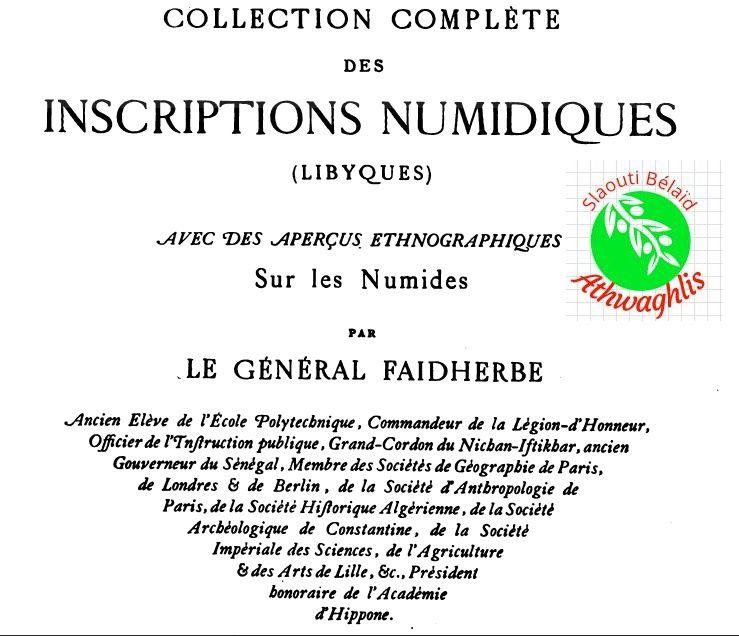 Connaitre les inscriptions numidiques.