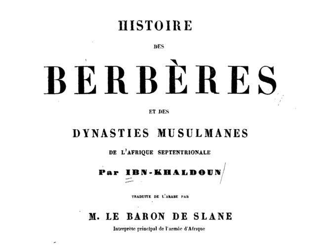 Histoire des berbères et des dynasties musulmanes.