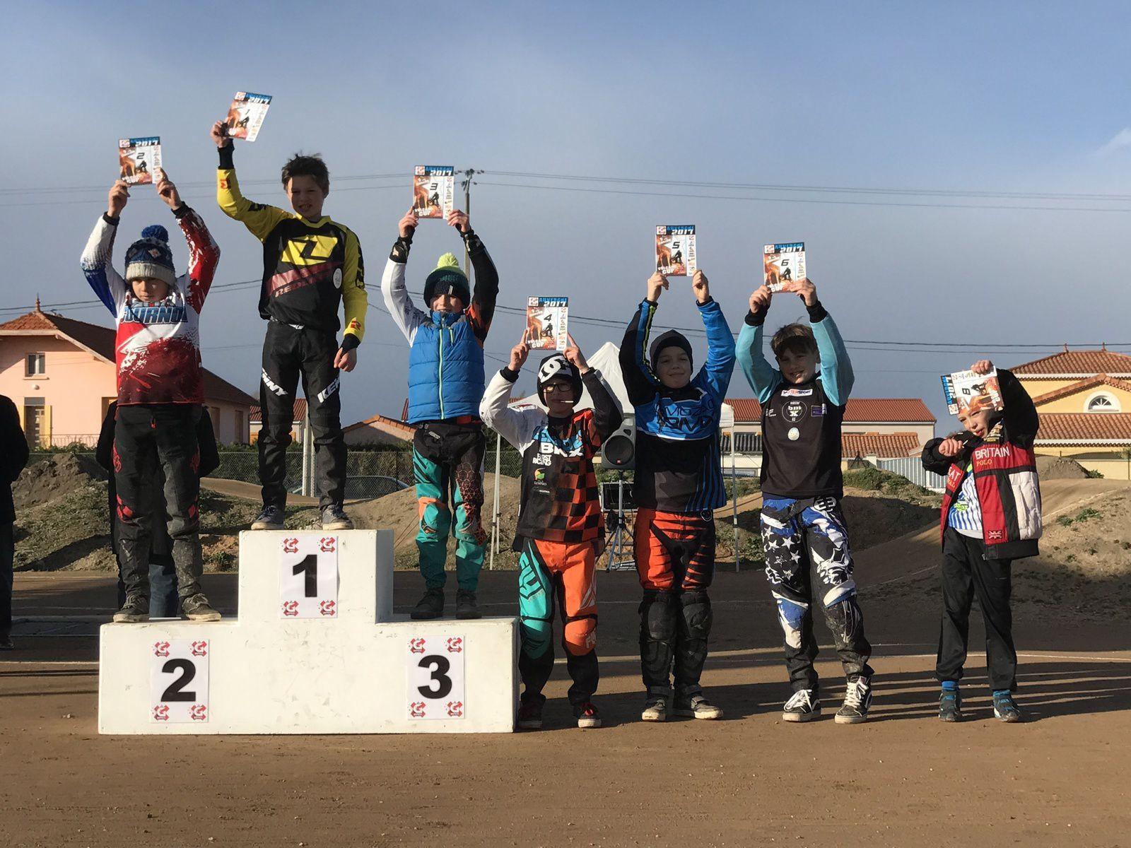 Résultats de la première manche de la vulcano cup à Gerzat, 5 mars