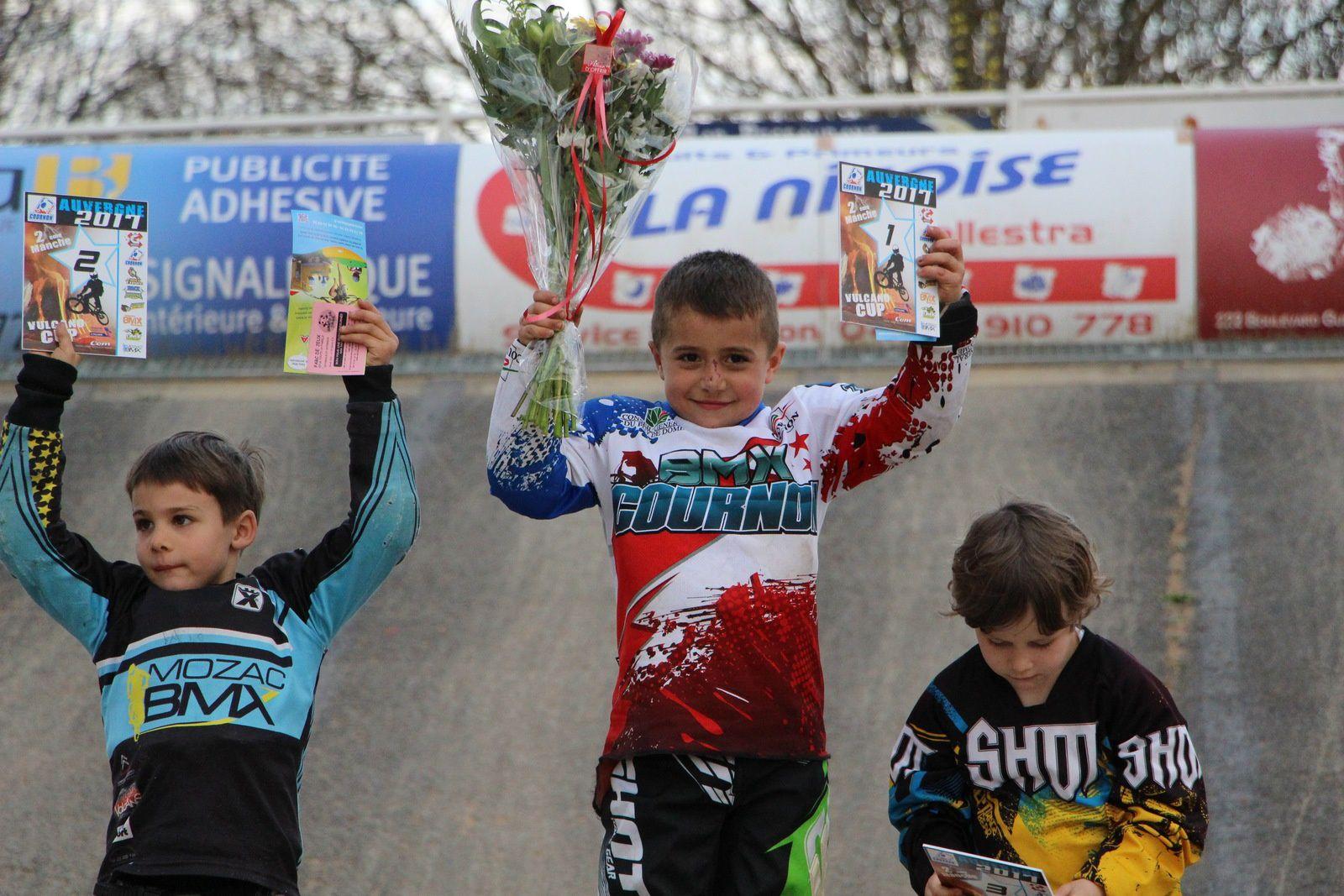 Résultats de la 2e manche de la Vulcano Cup à Counon, 12 mars