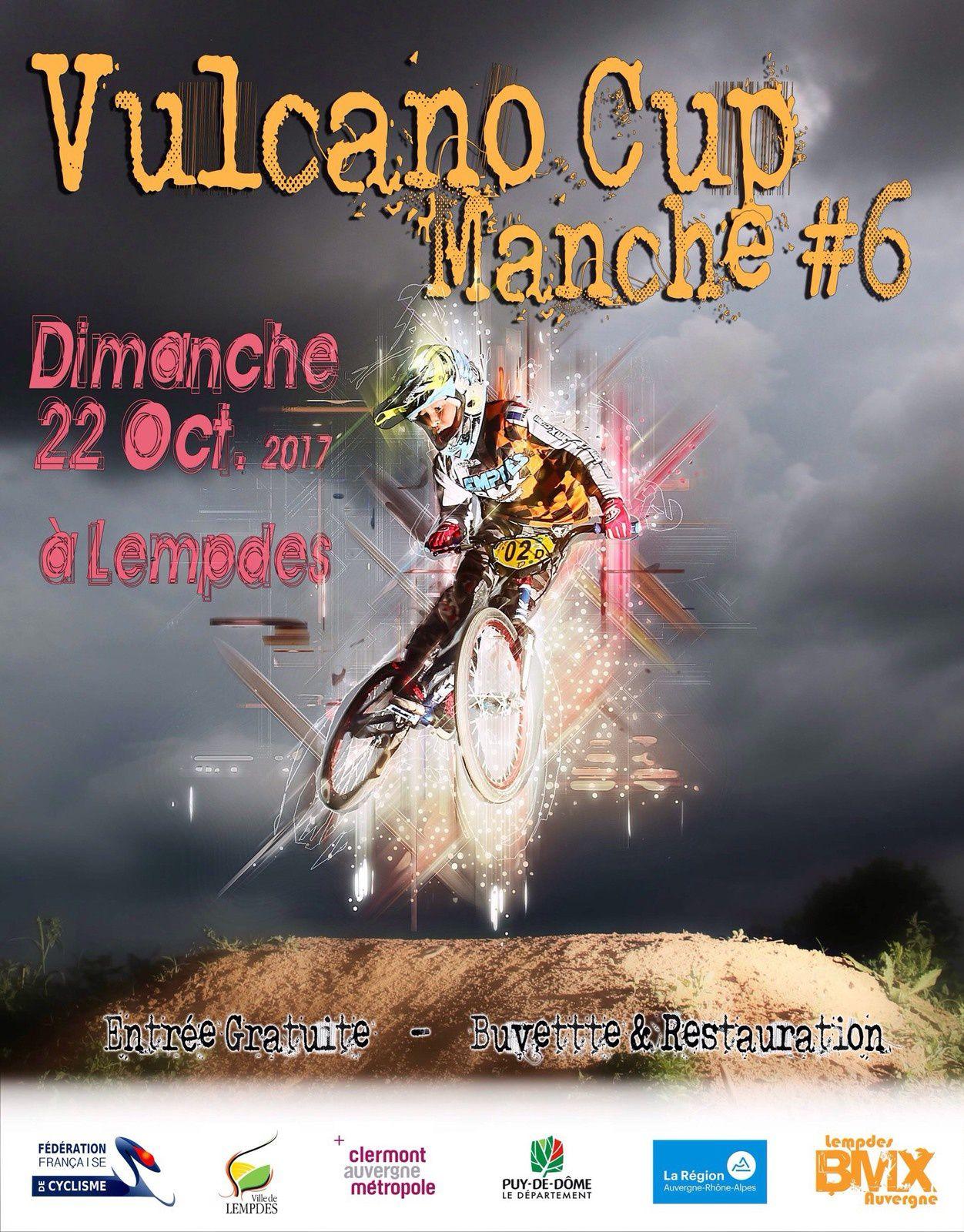 Inscrits et invitation à la finale de la vulcano Cup à Lempdes, 22 octobre
