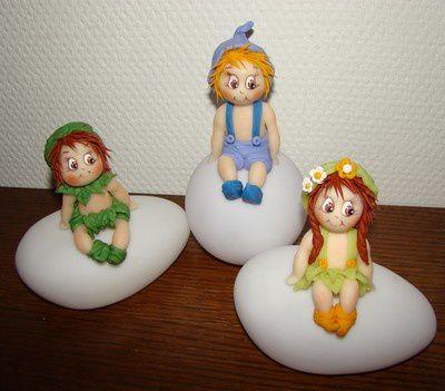 Veilleuses... lutins, lutines, Noël, petits lapins, oursons, bébés phoques...