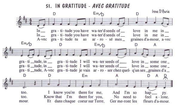Avec Gratitude