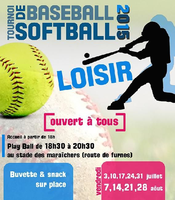 Affiche saison Softball loisir - barbecue