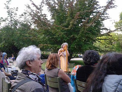 Au Jardin du Luxembourg, Paris,  l'hommage 2014  à Paul Verlaine