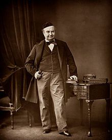 Sainte-Beuve par Bertall dans les années 1860. Source Wikipedia