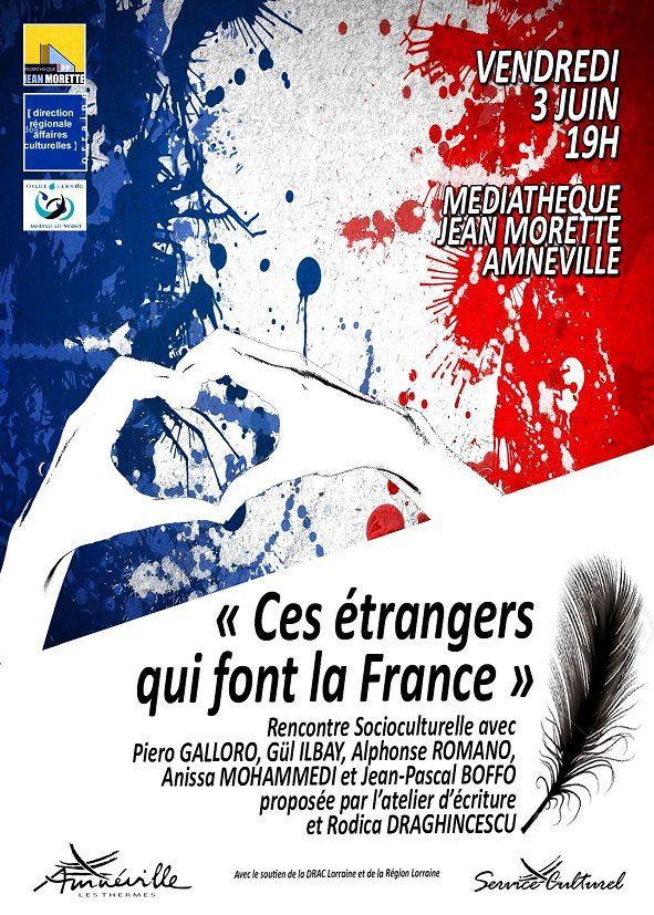 Le 3 juin à Amnéville, avec ''Ces artistes étrangers qui font la France''