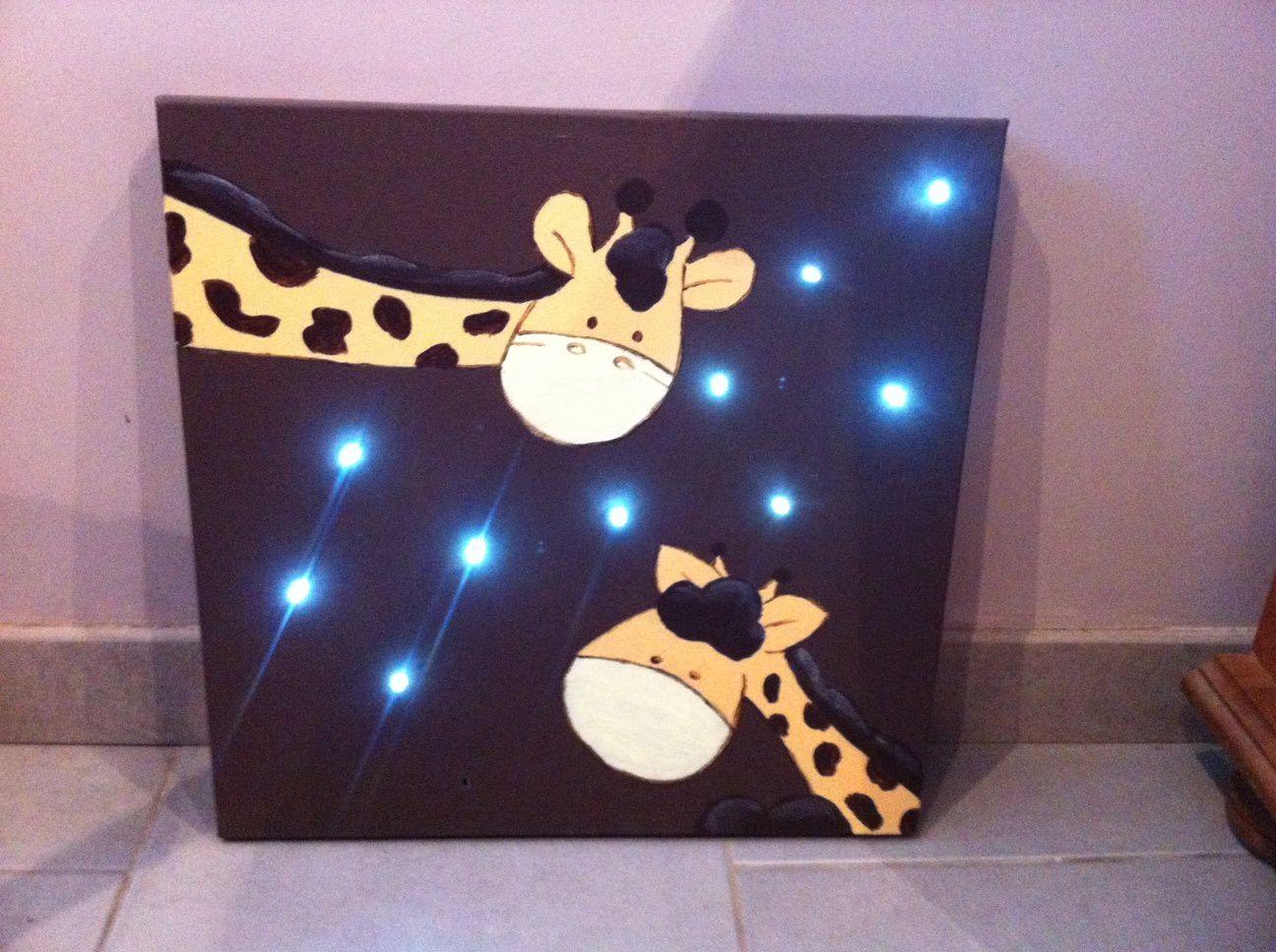Toile Lumineuse Savanne et Girafe