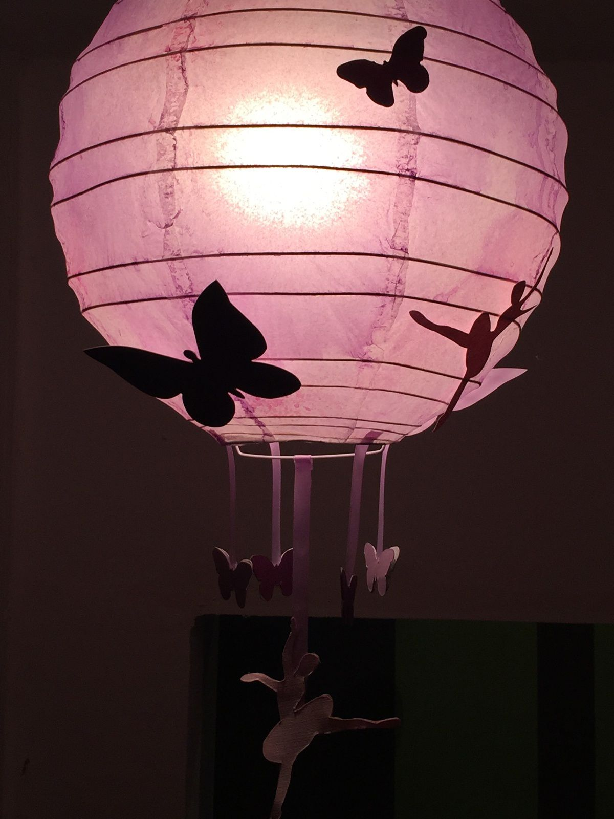 Suspension et Lampe Papillon et danseuse