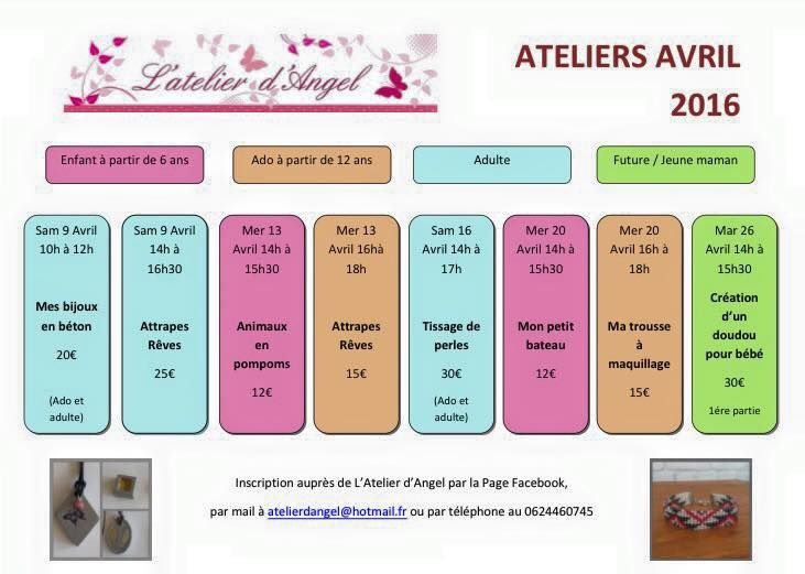 Programme Ateliers d'Avril