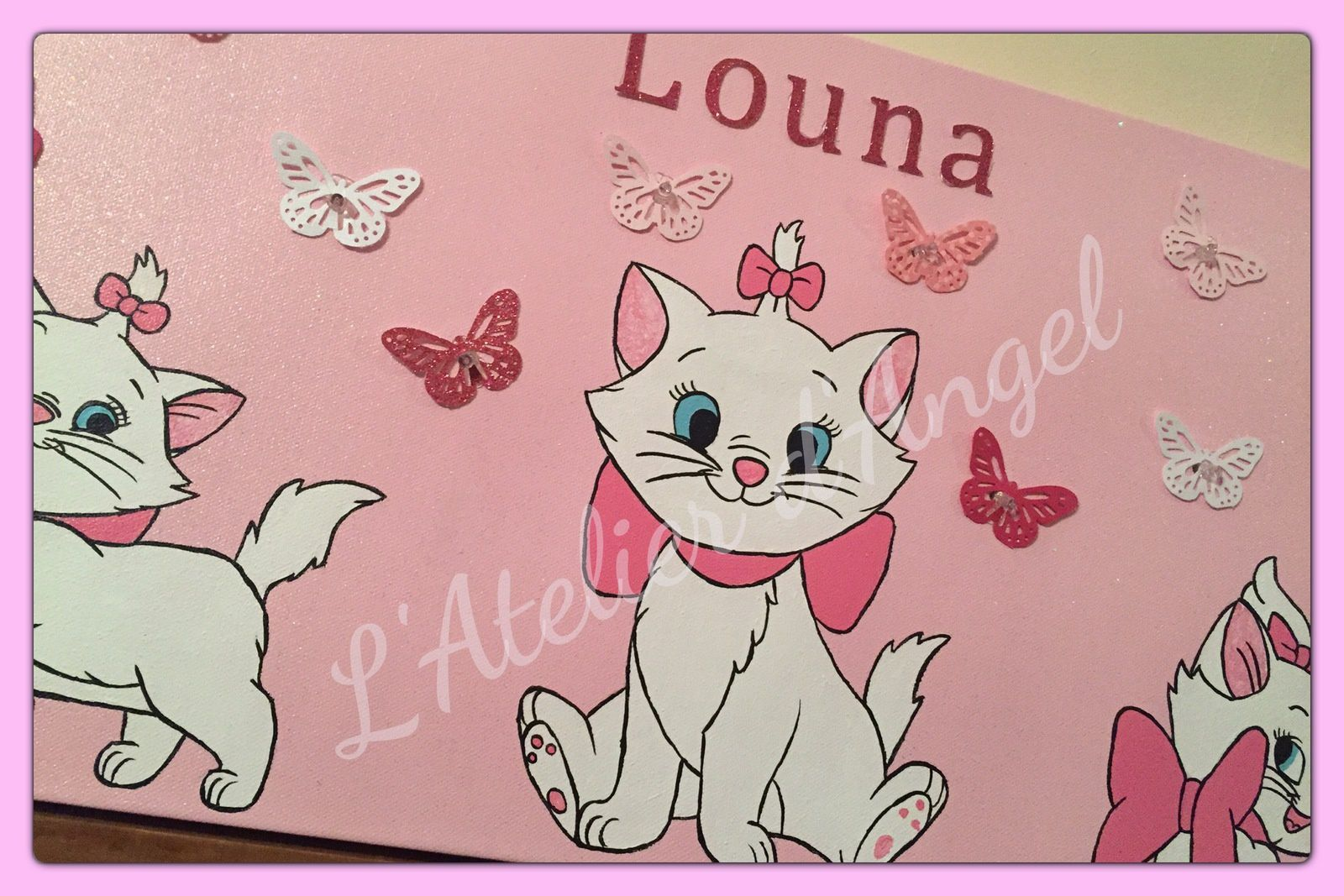 Toile Lumineuse Marie des aristochats