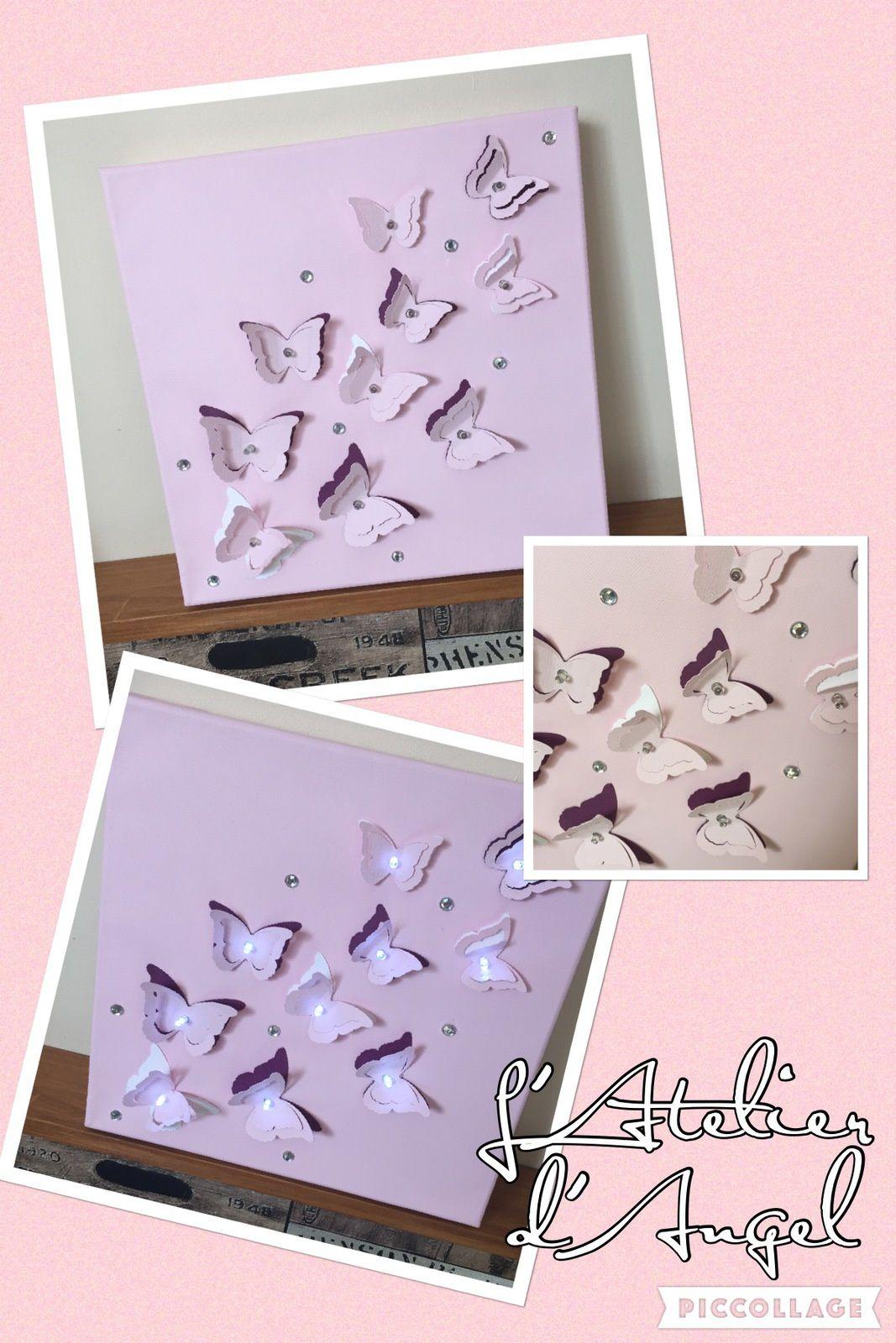 Toiles lumineuses envolée de papillon