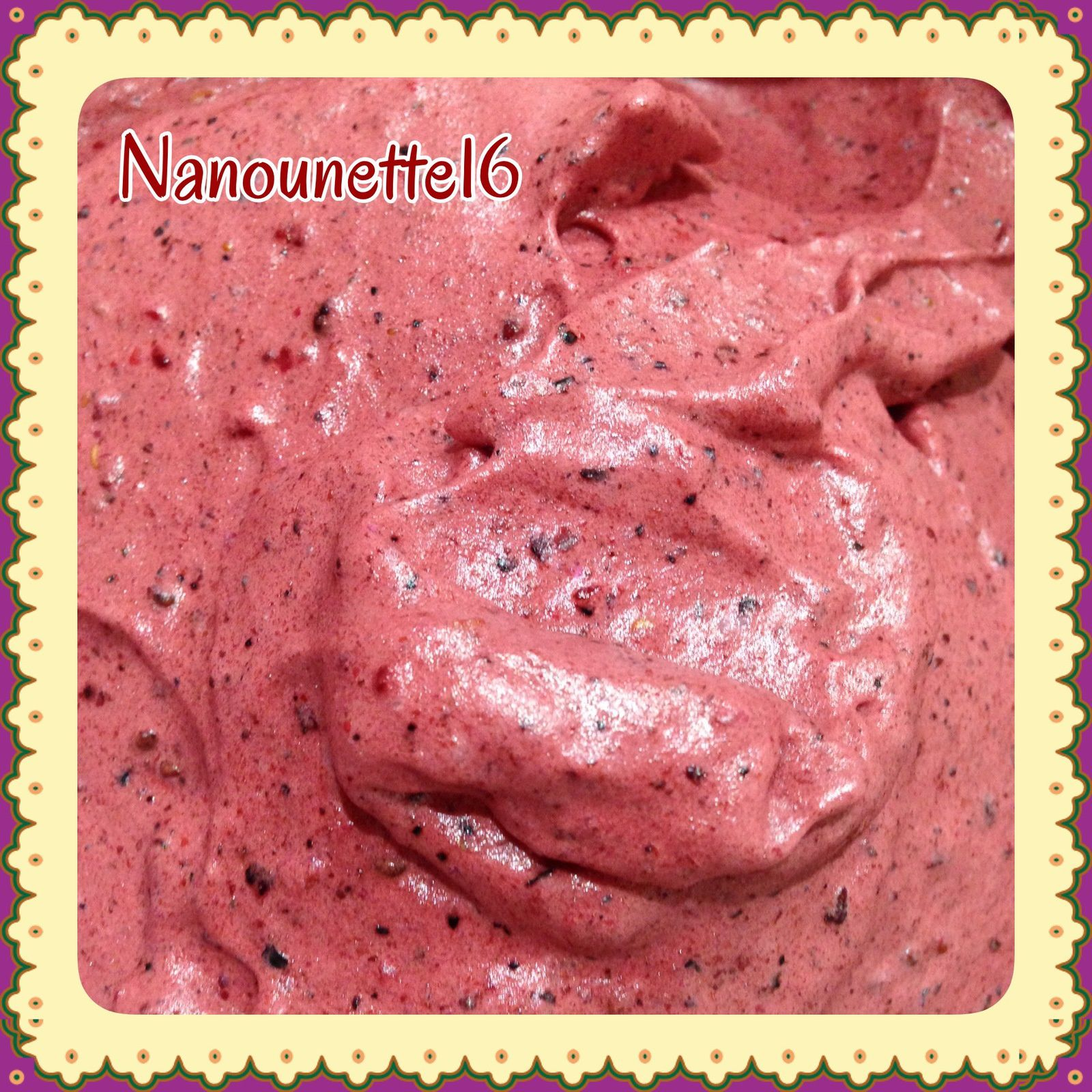 Sorbet fruits rouges au Thermomix