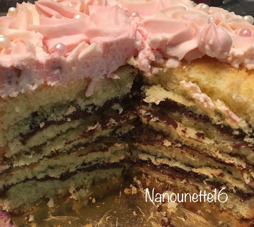 Rose layer cake