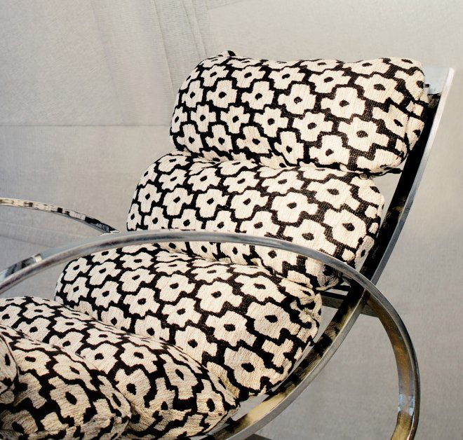 Cayo Huesco, fils de laine et acrylique, usage siège et rideaux, 2 coloris