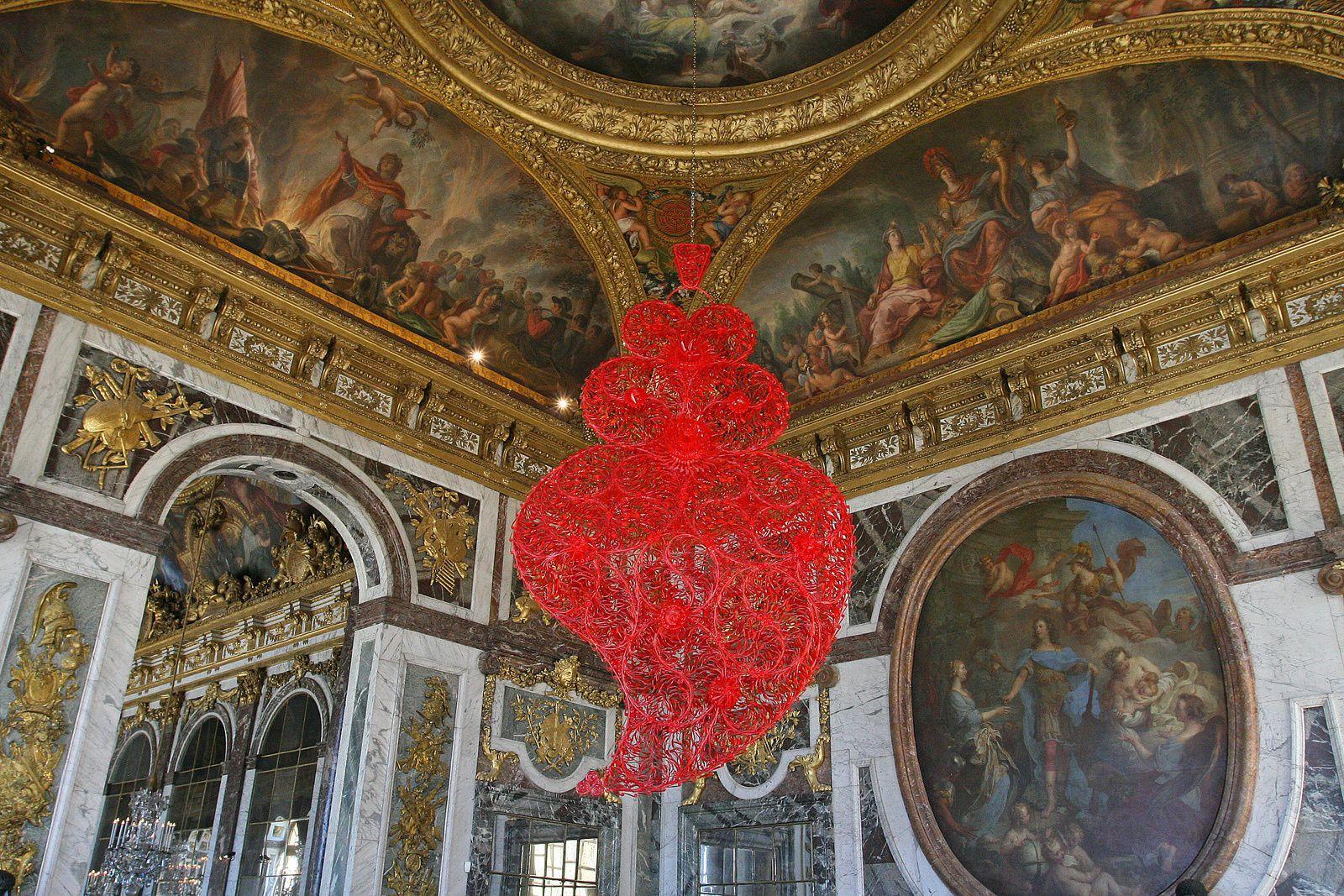Cœur rouge à Versailles